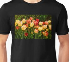 Impressions of Gardens - Particolored Vernal Tulips Unisex T-Shirt