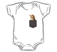 kitten in my pocket kids clothing  One Piece - Short Sleeve
