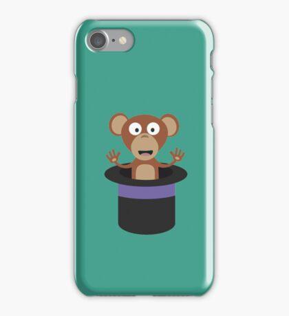 sweet monkey in hat  iPhone Case/Skin