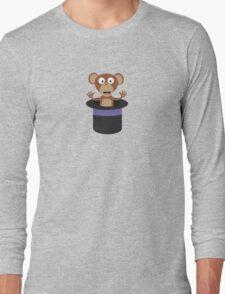 sweet monkey in hat  Long Sleeve T-Shirt