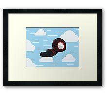Cute Flying Spidey Framed Print