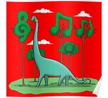 Sebastian BACHiosaurus Poster
