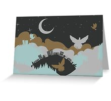 Pigeon in the Clouds 3 Greeting Card
