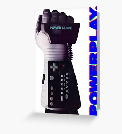 NES Power Glove - POWERPLAY Greeting Card