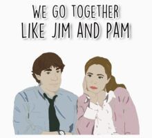 We go together like Jim and Pam Kids Clothes