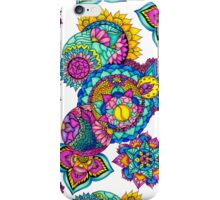 Modern bright floral watercolor mandala hand drawn iPhone Case/Skin