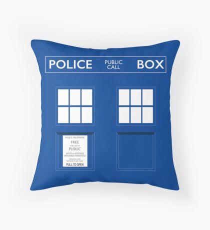 Dr. Who's Tardis Throw Pillow