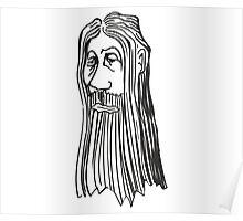 Weirdman Beaardman No 4 Poster