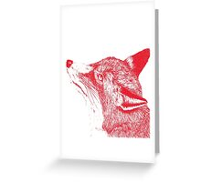 Quirky Fox Greeting Card