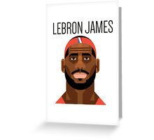 THE KING LEBRON  Greeting Card