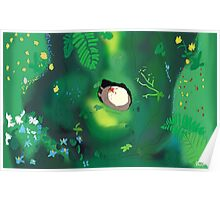 My neighbour totoro tree scene  Poster