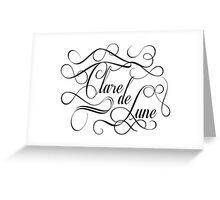 Clare de Lune Greeting Card