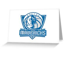 DALLAS MAVERICKS LOGO Greeting Card
