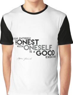 HONEST with ONESELF - Sigmund Freud Graphic T-Shirt