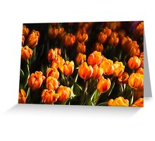 Impressions of Gardens - Flame Colored Tulip Abundance Greeting Card