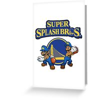 Stephen Curry Splash Bros Greeting Card