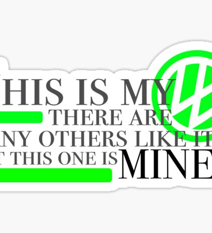 This my Vw in lime green Sticker