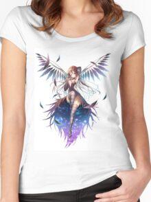 Aile Akemi Homura Angel Wings Women's Fitted Scoop T-Shirt