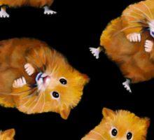 Hamsters: Cute: Random Pattern on Black, Hamster Art, Drawing Sticker