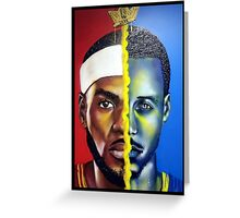 Lebron James vs Stephen Curry Greeting Card