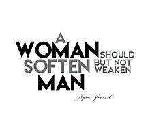 WOMAN soften MAN - Sigmund Freud Photographic Print