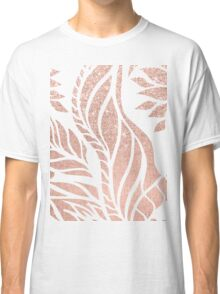 Modern geometric rose gold hand drawn floral Classic T-Shirt