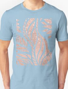 Modern geometric rose gold hand drawn floral Unisex T-Shirt
