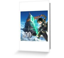 kirito sword art online 2 Greeting Card