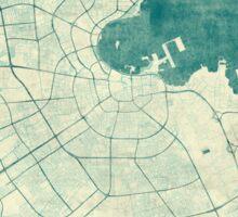 Doha Map Blue Vintage Sticker