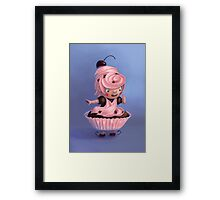 Cupcake girl Framed Print