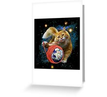 Kitty's got the world in her paws Greeting Card