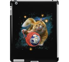 Kitty's got the world in her paws iPad Case/Skin
