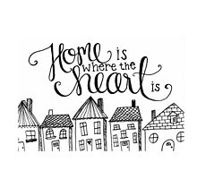 Home is Where the Heart is Doodle by ivylovesart