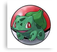 Bulbasaur pokeball - pokemon Canvas Print