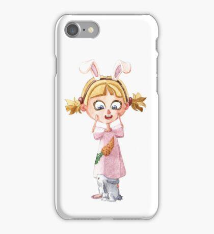 Bunnie girl iPhone Case/Skin