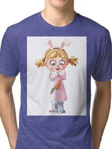 Bunnie girl Tri-blend T-Shirt