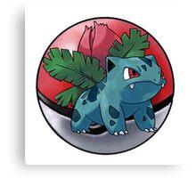 ivysaur pokeball - pokemon Canvas Print