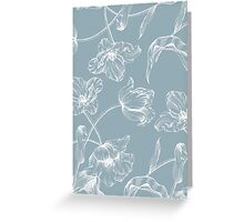 Tulip design china blue Greeting Card