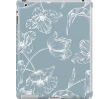 Tulip design china blue iPad Case/Skin
