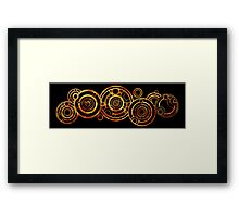 Doctor Who - The Doctor's name in Gallifreyan #2 Framed Print