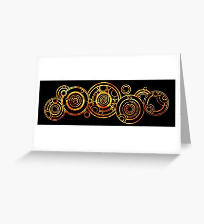 Doctor Who - The Doctor's name in Gallifreyan #2 Greeting Card