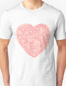 Hand drawn cute lovely couples T-Shirt