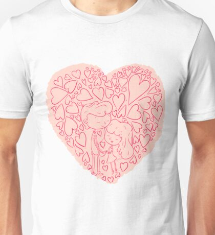 Hand drawn cute lovely couples Unisex T-Shirt