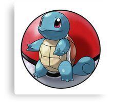 squirtle pokeball - pokemon Canvas Print