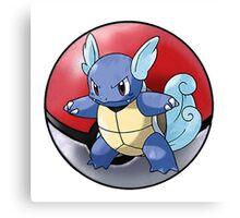 wartortle pokeball - pokemon Canvas Print