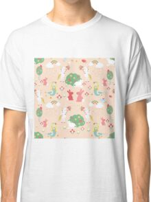 Mermaids and Unicorns, peach Classic T-Shirt