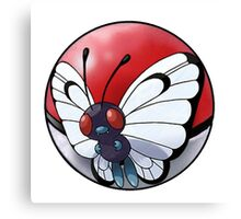 butterfree pokeball - pokemon Canvas Print
