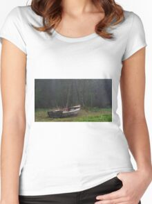 Old boat Women's Fitted Scoop T-Shirt