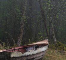 Abandoned boat Sticker
