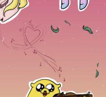 Romantic Jake and Lady Rainicorn Sticker